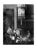Scherl - Telefonierendes Mädchen, 1927 - Fotografik Baskı