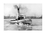 Eisbrecher im Hafen von Stettin, 1937 Photographic Print by  Scherl