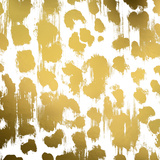 Gold Nairobi Square I (gold foil) Poster par Nicholas Biscardi