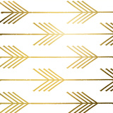 Golden Arrows I (gold foil) Poster par Elizabeth Medley