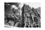 Kathedrale von Reims, 1938 Photographic Print by  Knorr & Hirth