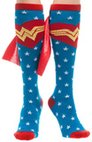 Wonder Woman - Stars Blue/Red Knee High Cape Sock Socks