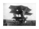 """Französisches Militärflugzeug """"Dorand"""" von Capitaine Jean Dorand, 1909 Photographic Print by  Scherl"""