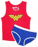 Girls: Wonder Woman Underoos - Tank/Underwear Set Shirts