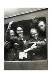"""Mitglieder der """"Jeunes du Maréchal"""" auf dem Weg nach Deutschland, 1943 Photographic Print by  Scherl"""