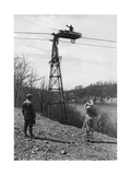 Car on Steel Cables, 1929 Photographic Print by  Scherl