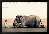 Boy Reading to Elephant, Mexico City Poster by Gregory Colbert
