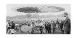 """Rickman präsentiert seinen """"Schraubenflieger"""" in den USA, 1909 Photographic Print by  Scherl"""