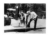 Scherl - Prohibition: Alkoholvernichtung in den USA - Fotografik Baskı