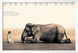 Boy Reading to Elephant, Mexico City Prints by Gregory Colbert