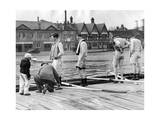 Oxford Rowing Crew Practicing for the University Boat Race, 1937 Photographic Print by  Scherl