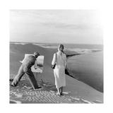 Scherl - Maler auf einer Sanddüne, 1939 - Fotografik Baskı
