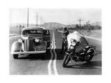Zickzack-Markierung auf amerikanischen Autobahnen, 1936 Photographic Print by  Süddeutsche Zeitung Photo