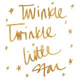 Twinkle Twinkle (gold foil) Posters