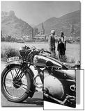 Ausflug mit dem Motorrad am Rhein, 1936 Art by  Scherl