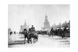 Roter Platz und Basilius-Kathedrale in Moskau, 1905 Photographic Print by  SZ Photo