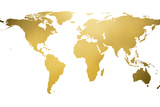 Gold World Map (gold foil) Prints