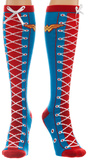 Wonder Woman Faux Lace Up Knee High Socks Socks
