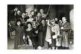 French Theatre Actors on their Way to Germany, 1943 Photographic Print by  Scherl