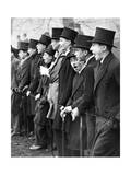 Westminster School Students Cheering for their Football Team in London, 1931 Photographic Print by  Scherl