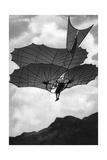 Flying Machine Built by Otto Lilienthal in Germany, 1900 Photographic Print by  Scherl