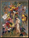 Woman in Flowers, 1904 Mounted Print by Odilon Redon