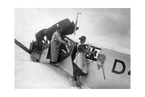 Maintenance and Cleaning of a Lufthansa Airplane, 1926 Photographic Print by  Scherl