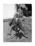 Egyptian Riding a Donkey, 1937 Stampa fotografica di  Scherl