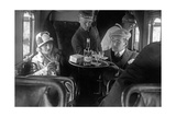Scherl - A Member of the Lufthansa Air Crew with Passengers, 1926 Fotografická reprodukce