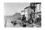 SZ Photo - Gandria on Lake Lugano, 1929 Fotografická reprodukce