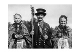 Silesian Traditional Costumes Photographic Print by  Scherl