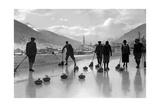 Curling in Davos, 1920S Reproduction photographique par  Scherl