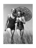Women with a Parasol, 1939 Photographic Print by  SZ Photo