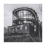 Thunderbolt Roller Coaster and Old House, Coney Island Photographic Print by Henri Silberman