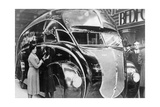 A Streamlined Truck Presented on the London Motor Show, 1933 Photographic Print by  Scherl