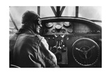 Pilot in a Cockpit of a Passenger Airplane by Fokker, 1926 Photographic Print by  Scherl