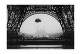 Experiments with a Parachute on the Eiffel Tower, 1913 Photographic Print by  Scherl