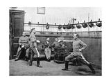 Fencing Officers in Spain, 1910 Photographic Print by  SZ Photo