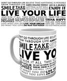 Live Your Life - Quotes Mug Mug
