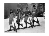 Winter Sportswear for Women, 1926 Photographic Print by  Scherl