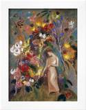 Woman in Flowers, 1904 Print by Odilon Redon