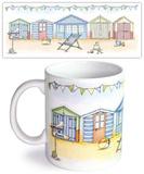 Beach Huts Mug Krus