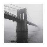 Brooklyn Bridge Tower in Fog Photographic Print by Henri Silberman