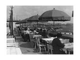 Gäste auf der Terrasse des Flughafenrestaurants Berlin-Tempelhof, 1936 Photographic Print by  Scherl