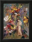 Woman in Flowers, 1904 Prints by Odilon Redon
