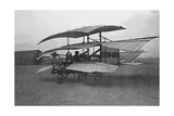 "Flying Machine ""Auto-Aviateur"" by Bousson-Borgnis in France, 1908 Photographic Print by  Scherl"