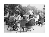 Terrace of the Continental-Savoy in Cairo, 1920S Photographic Print by  Scherl