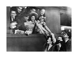 A French Theater Company Leaving the Train Station of Paris, 1943 Photographic Print by  SZ Photo