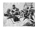 Bathers Listening to Music, 1938 Photographic Print by  SZ Photo