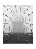 Brooklyn Bridge Cables in Fog Photographic Print by Henri Silberman